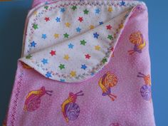 Baby blanket pink background with cute little snails on one side.and colorful stars on the other side. nursing blanket, swaddle blanket, by MissyCraftsandGoods on Etsy