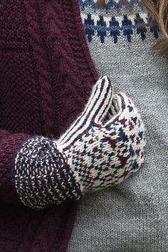 Kirjoneulelapaset naisen lapaset Novita 7 Veljestä | Novita knits