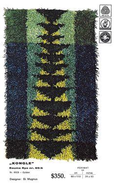 Kit prepared by Rauma of Norway.  Order through Byrdcallstudio@gmail.com. Rug Weaves, Mid Century Rug, Rya Rug, Retro Styles, Tapestry Weaving, Scandinavian Home, Rug Hooking, Diy Projects To Try, Woven Rug