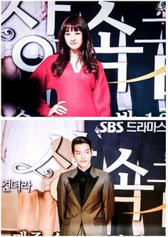 Kim Ji Won and Kim Woo Bin at The Heirs press conference