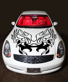 Car Hood Decal Skull Bones Murals Wings Horror Tribal Tattoo Decor - Best automobile graphics and patternsbest stickers on the car hood images on pinterest cars hoods