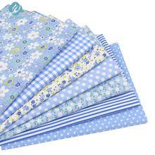 7 unids Azul 100% Tela De Algodón para Coser DIY Quilting Patchwork Niños ropa de Cama de Tejido Textil Tilda Muñeca de tela de Tela 50*50 cm(China (Mainland))