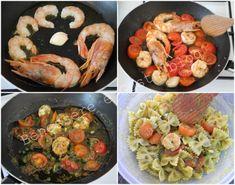 Pasta gamberi pesto e pomodorini Pasta Al Pesto, Paella, Ethnic Recipes, Food, Dinner, Essen, Meals, Yemek, Eten