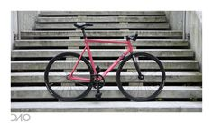 Pink Mielec 58cm+Alpina fork+Omnium cranks+Cinelli - London Fixed-gear and Single-speed