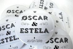Espejo de mano - detalle para boda.    www.qustommize.com