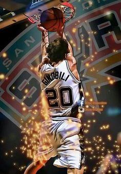 New Basket Ball Jersey Legends Ideas Basketball Art, Basketball Leagues, Spurs Fans, Spurs Logo, Manu Ginobili, Basketball Photography, Nba Playoffs, Nba Champions, San Antonio Spurs
