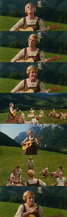 """Maria makes it easier for the Von Trapp children to learn to sing: """"Do - the name for a female deer..."""" The Sound of Music 1965"""