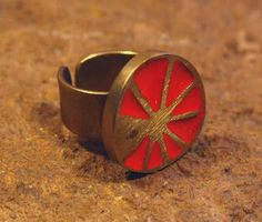Enamel Sun Ring – Noor Design