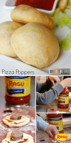 Adorbz! These Pizza Poppers pack the big taste of pizza in one bite. All you need is a package of refrigerated biscuits, cheese, your favorite toppings and some Ragú Sauce. The folks at Meaningful Mama tried 'em with sausage and pepperoni...SO tasty. Easy appetizers for parties, or make a bunch for dinner! Thanks to www.meaningfulmama.com.