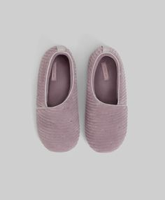 Embroidered corduroy slippers - 3