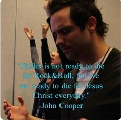 """""""Skillet is not ready to die for rock and roll, but we are ready to die for Jesus Christ everyday. Skillet Quotes, Skillet Lyrics, Christian Rock Bands, Christian Music, Music Is Life, My Music, Jen Ledger, Skillet Band, Rock Hits"""