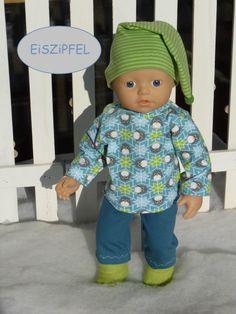 Puppen-jacke Mit Jeans 28-35 Cm Puppen & Zubehör Babypuppen & Zubehör
