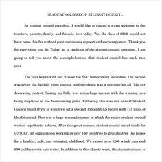 Student Council Essays Sample Speech