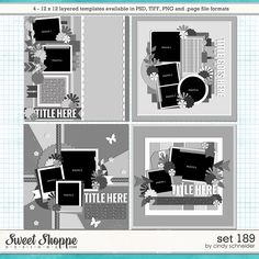 Cindy's Layered Templates - Set 189 by Cindy Schneider