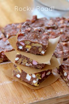 Rocky Road!! A Classic No-Bake Treat that everyone will enjoy – fill your Rocky Road with everything you love and ENJOY!