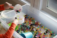 water bead sensory box