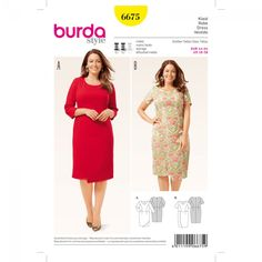 12e73f53a28 Robe n°6675 - Collection Burda Printemps/Eté 2016 Plus Size Sewing Patterns,