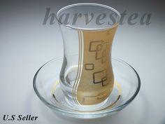 EMIR HANDMADE TEAGLASS/6 TEACUPS AND 6 SAUCERS #Handmade