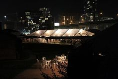 Clear top tent with lights at night. Top Tents, Night Light, Lights, Frame, Picture Frame, Lighting, Frames, Rope Lighting, Bedside Lamp