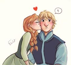 Anna and Kristoff  so cute - Frozen - We may by coralinejohns