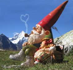 Real Gnome Love - #nanodagiardino #decorazioni