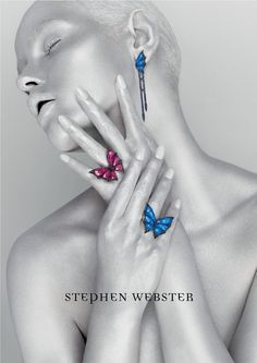 British jeweller Stephen Webster collaborates with Rankin on a typically edgy…