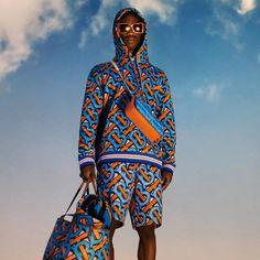 #Menswear #Burberry #Summer Burberry Summer, Summer Set, Pharrell Williams, Printed Cotton, Monogram, Menswear, Bright, Unisex, Statue