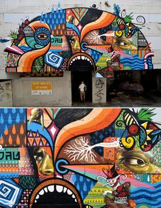 Street art | Mural (Tel Aviv, Israel, May12) by Jack [TML Crew], Beastman, and Skount