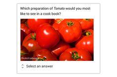Image with Menu- Frage mit Bild und Menü   In der Umfrage werden ein großes Bild und bis zu fünf Antwortoptionen gleichzeitig angezeigt.