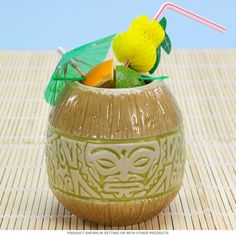 Marqo-Coconut Green Tiki Mug by Tiki Farm