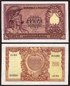 Collezione Personale di Banconote Italiane: 0.0.2. - 100 LIRE ITALIA ELMATA