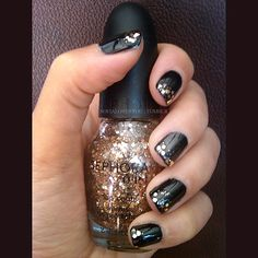 black and sparkle