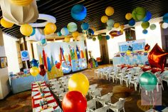 Sebastian's Airplane Themed Party – Ceiling details