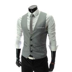 Zicac Men's Top Designed Casual Slim Fit Skinny dress Vest Waistcoat (Asia L(US:S), Gray) Zicac,http://www.amazon.com/dp/B00GROHJIO/ref=cm_sw_r_pi_dp_Joihtb04B4VC1SYR