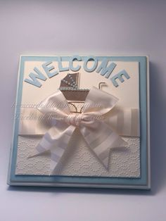 Special order for a special delivery. Picture frame under card front. Soft sky, very vanilla.