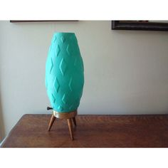Textured Turquoise Mid Century Modern Table by JustSmashingDarling
