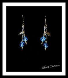 Blue Dice Earrings - pinned by pin4etsy.com