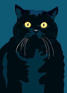 Fat Cat by animalsincolor on Etsy Sebastiano Ranchetti.
