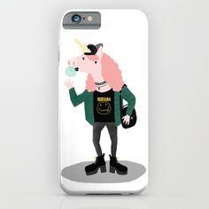 Unicorn iPhone cases: hipster unicorn iphone case by nadia keifans