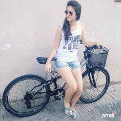 volta de bike @loja_amei #lojaamei #jeans #regata #muitoamor #bike #lindo
