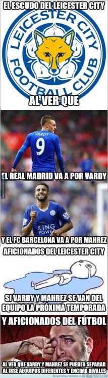 Vardy al Madrid y Mahrez al Barcelona?