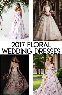 2017 floral wedding dress ideas