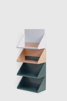 UGO is a minimal shelving system created by Spain-based designer Jorge de la Cruz.UGO is a minimal shelving system created by Spain-based designer Jorge de la Cruz. Shaker Furniture, Modular Furniture, Furniture Sale, Furniture Design, White Furniture, Industrial Design Furniture, Small Furniture, Ikea Furniture, Furniture Plans