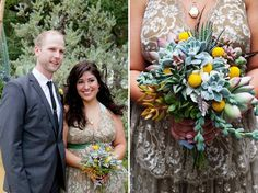 succulent and billy ball bouquet