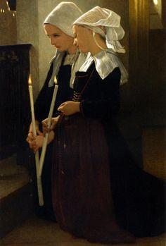 Prayer at Sainte Anne d'Auray,1869.William-Adolphe Bouguereau.