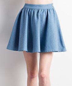 Look what I found on #zulily! Denim Pleated Skirt #zulilyfinds