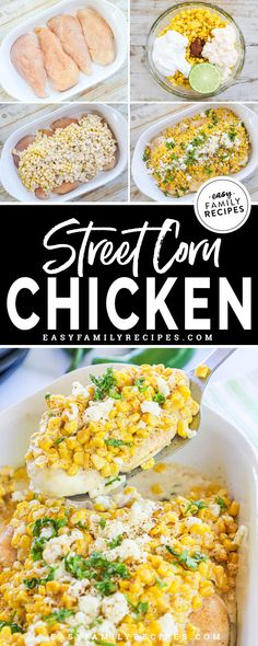Easy Summer Dinners, Easy Meals, Corn Chicken, Mexican Chicken Bake, Easy Chicken Dinner Recipes, Healthy Chicken Mexican Recipes, Easy Chicken Breast Dinner, Easy Dinner Recipies, Corn Recipes