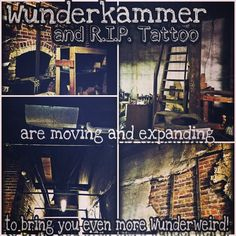 We are moving! The new space will be Wunderkammer plus a whole new center for commerce creativity and #creepy in the #PNW! Our new building which we have dubbed #TheLuminarium will offer tattoos and taboos and so much more! Full print and etching services artist studios and lofts band practice space and recording studio and many workshops and demos of weird and amazing things. So much to come. Keep your eyes peeled!