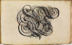 Calligraphy Letterform Album, 1620s in Germany, Johann Hering
