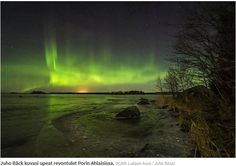 Northern Lights-Aurora Borealis - Pori, Finland - Picture: Juho Bäck- During the year 2016 there has been a significant number of Northern Lights throughout Finland.